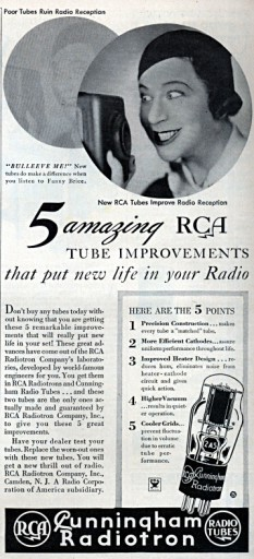 An ad for RCA tubes